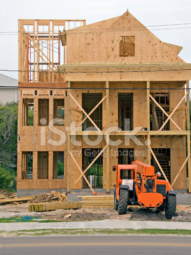 Casa Residencial DE Tres Pisos Durante El Encuadre Construcción PH ...