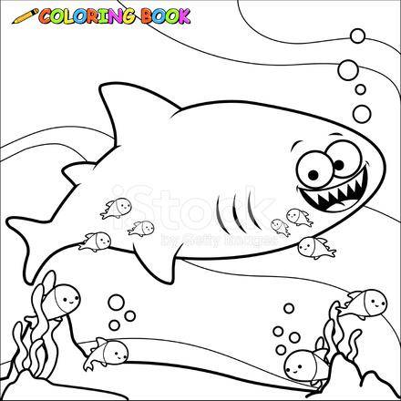 Boyama Kitabı Sualtı Köpekbalığı Stock Vector Freeimagescom