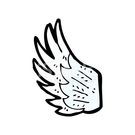 cartoon angel wing stock vector freeimages com wind clip art free wing clip art