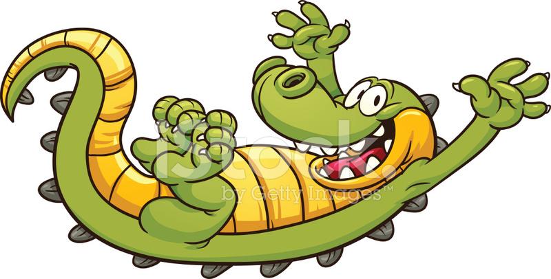 cute cartoon alligator