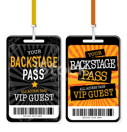 Set of Backstage Pass Template Designs Stock Vector FreeImagescom