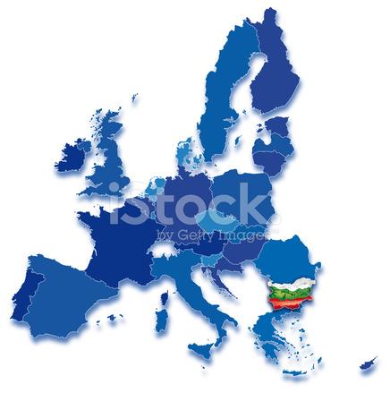 ブルガリアの欧州共同体の地図 S...