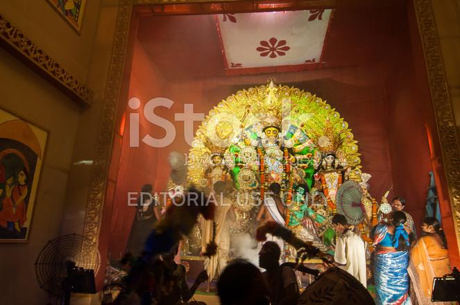Durga Puja Festival Celebration In Kolkata India Stock Photos Freeimages Com