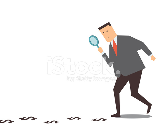 finding money track stock vector freeimages com