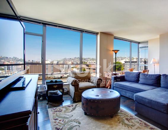 Modern City Apartment Living Stock Photos