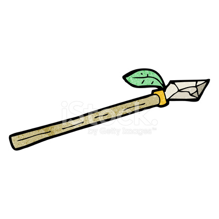 Cartoon Spear Stock Vector - FreeImages.com