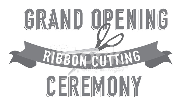 ribbon cutting word design template stock vector freeimages com