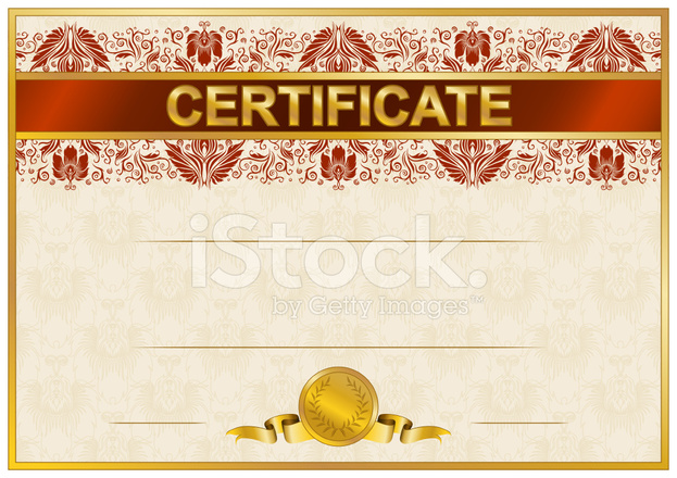 elegant template of certificate  diploma stock vector