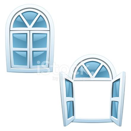 Cartoon windows stock vector - Finestre condominiali aperte o chiuse ...