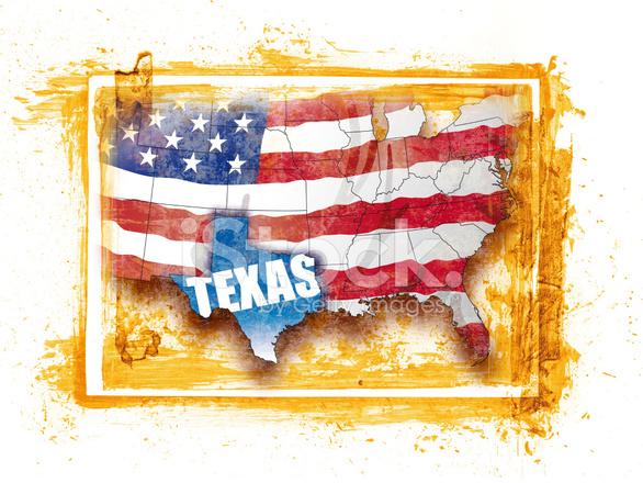 USA Karte MIT Föderalen Staat Texas Stockfotos - FreeImages.com