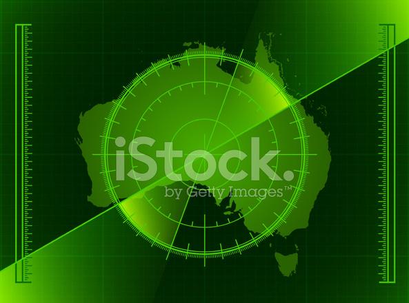 Map Of Australia Radar.Australia Radar World Map Royalty Free Vector Art Stock Vector