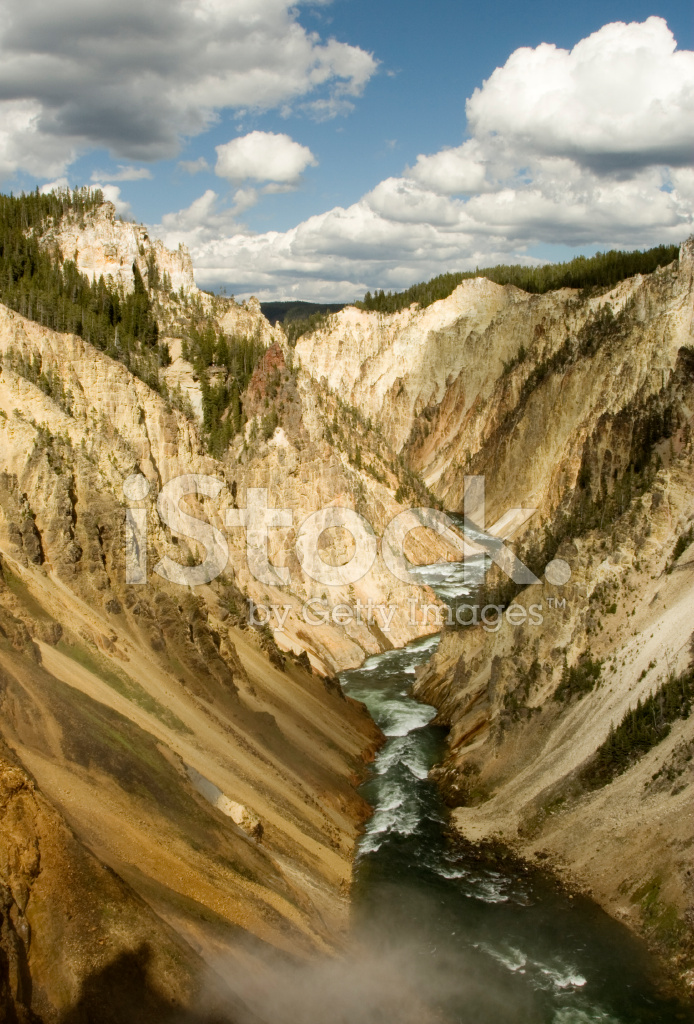 Grand canyon del fiume di yellowstone fotografie stock freeimages.com
