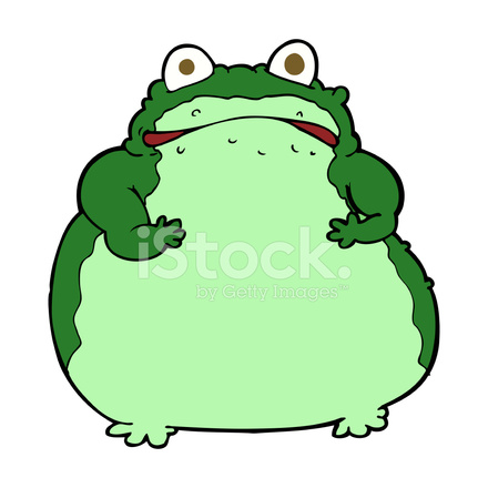cartoon fat frog stock vector   freeimages