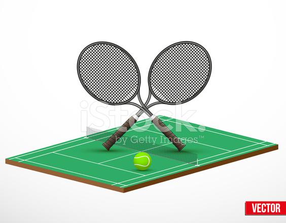 E Quadra símbolo de um jogo de tênis e quadra stock vector - freeimages
