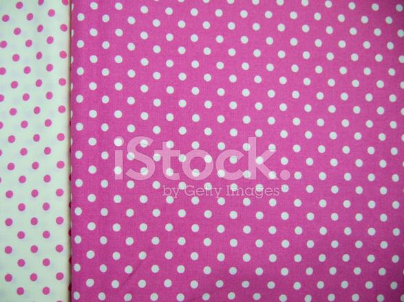 Sfondo Trasparente A Pois Bianco E Rosa Fotografie Stock