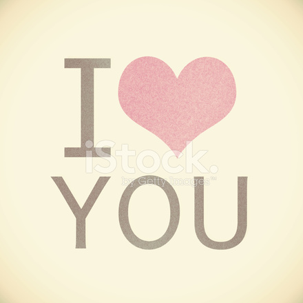 I love you recycled paper on vintage tone background stock photos i love you recycled paper on vintage tone background voltagebd Images