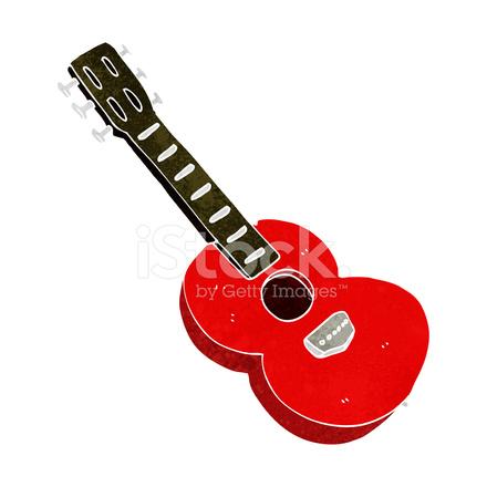 Guitarra De Dibujos Animados Stock Vector Freeimagescom