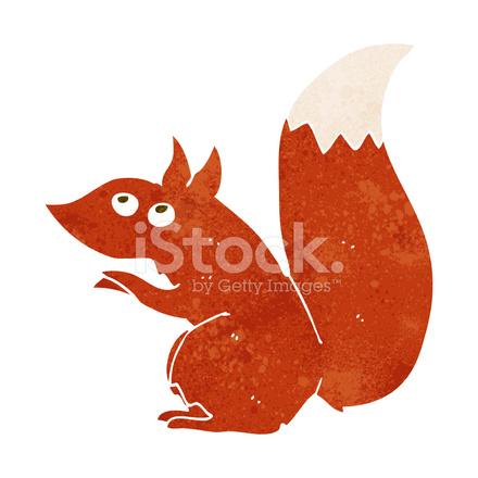 Scoiattolo rosso cartone animato stock vector freeimages.com