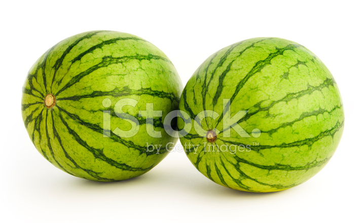 Two Watermelons On White Stock Photos Freeimages Com
