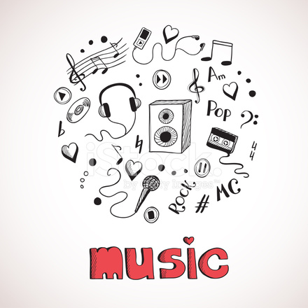 Sketch Of Music Elements Stock Vector Freeimages Com