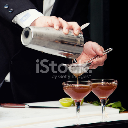 Preparation of cocktails stock photos for Cocktail preparation