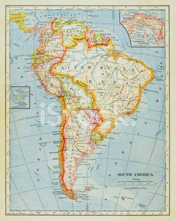 Mapa DE América Del Sur 1883 Fotografías de stock - FreeImages.com