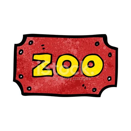 Cartoon Zoo Sign Stock Vector - FreeImages.com