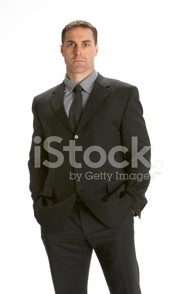 Seria Buscando Negocios Hombre Retrato Estudio Tiro Sobre Blanco