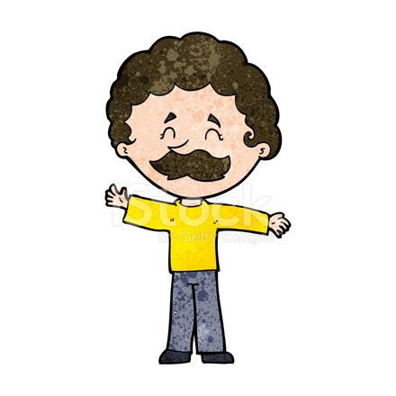Ragazzo di cartone animato con i baffi stock vector freeimages