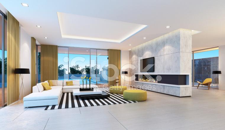 int rieur de la villa contemporaine photos. Black Bedroom Furniture Sets. Home Design Ideas