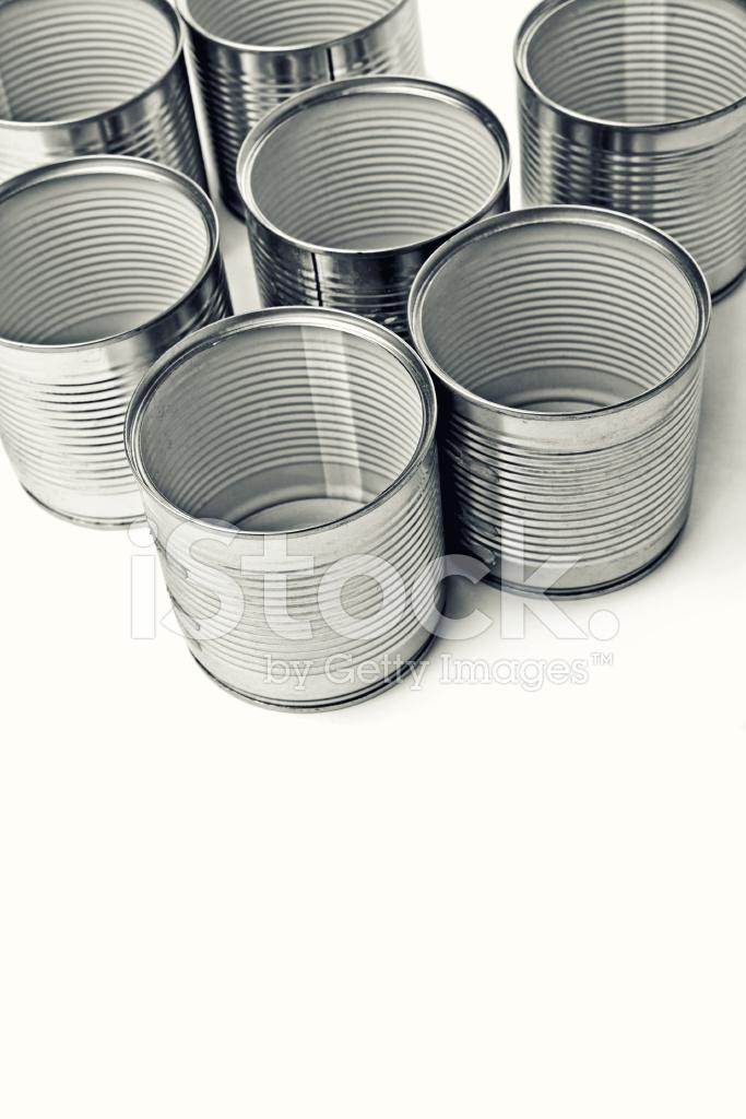 Empty Tin Can Stock Photography: Empty Tin Cans Stock Photos