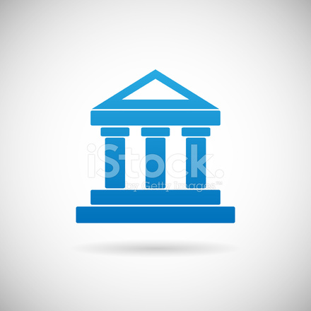 law court bank house symbol justice finance icon design