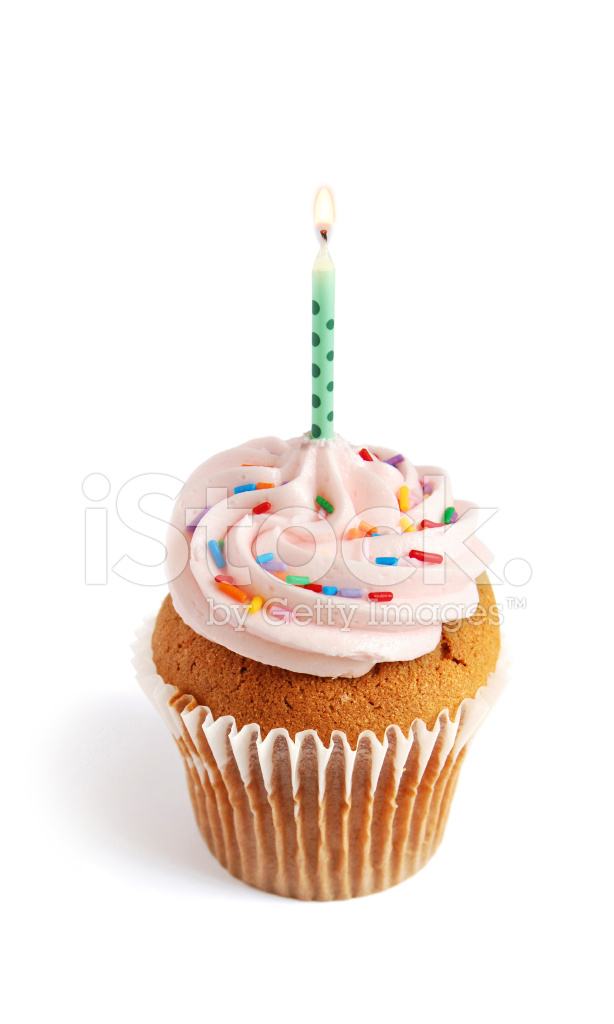Cupcake With Candle Stock Photos Freeimages Com