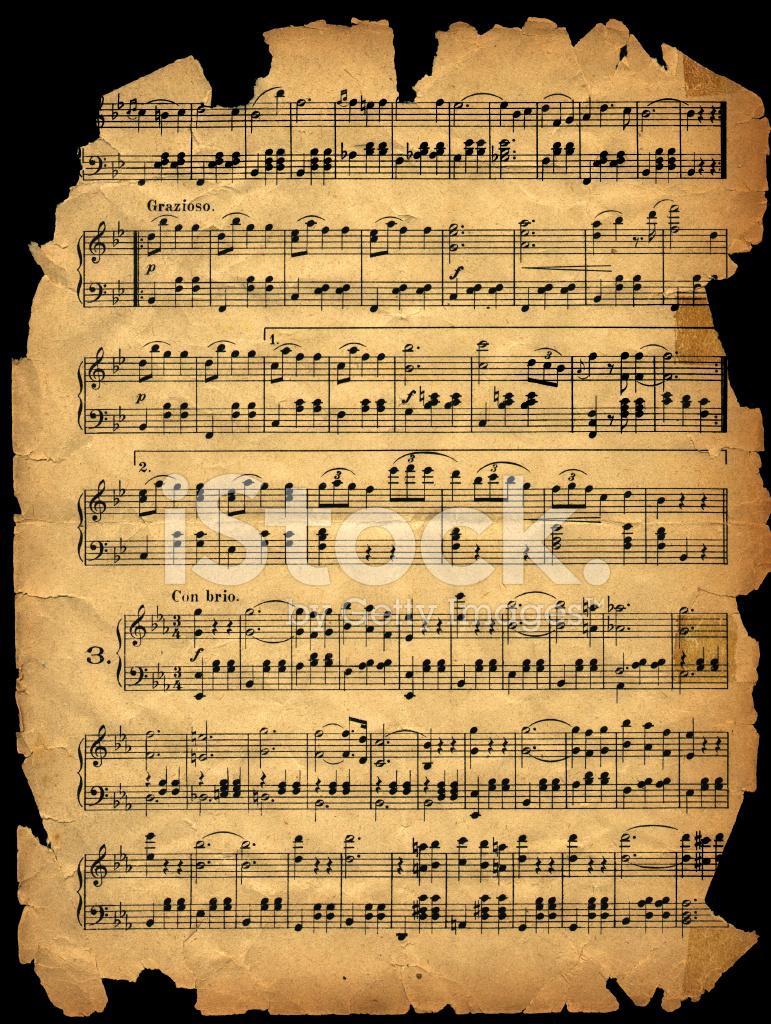Hoja DE Música Desgastadas Fotografías de stock - FreeImages.com