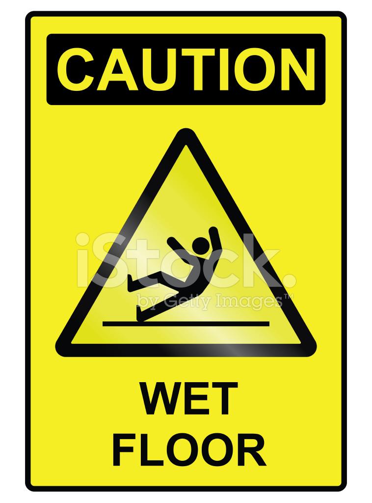 Wet Floor Hazard Sign Stock Photos FreeImagescom