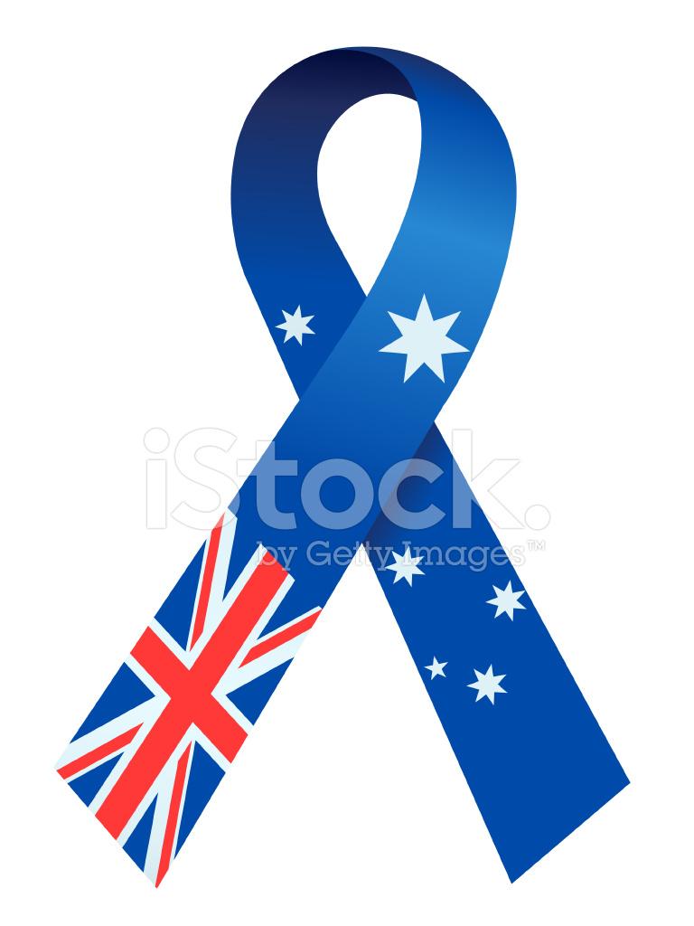 australian flag ribbon stock photos freeimages com