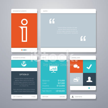 user interface design document template - user interface vector template elements stock photos
