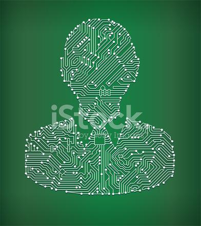 Human Head Circuit Board Royalty Free Vector Art Background Stock ...