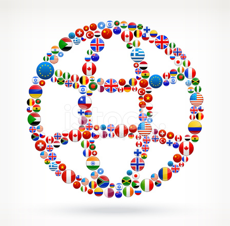 Globe World Flags Roya...