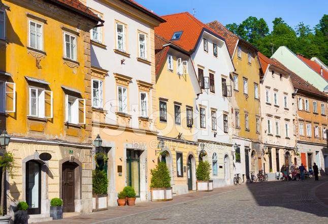 Old Houses In Ljubljana Slovenia Stock Photos