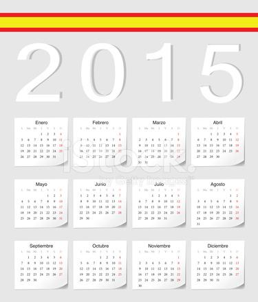 Calendario Spagnolo.Calendario Angolato Spagnolo 2015 Stock Vector Freeimages Com