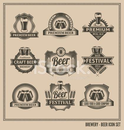 Bier Pictogrammenset Vector Design Stock Vector Freeimages