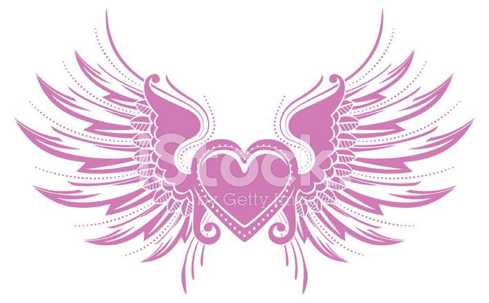 Coeur Avec Des Ailes Stock Vector Freeimagescom