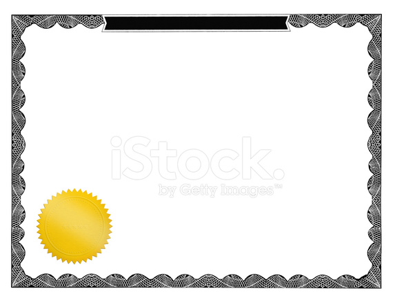 Blank Certificate With A Gold Seal Stock Photos - FreeImages.com