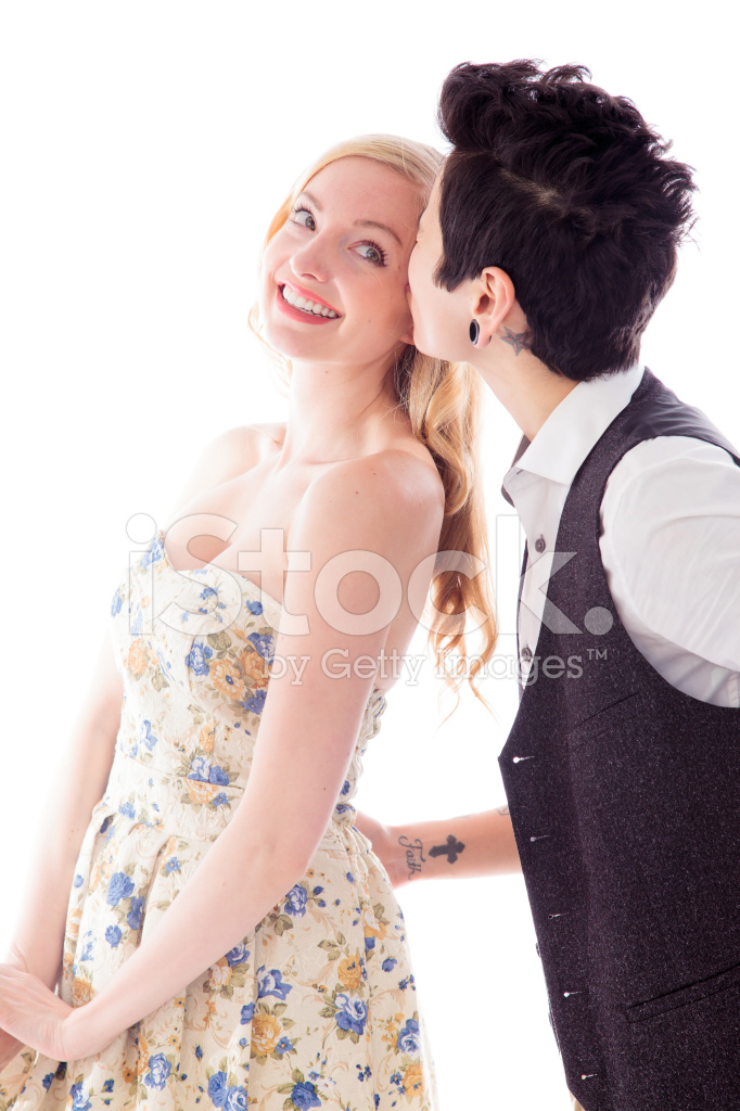 Woman Kissing TO Her Lesbian Partner Stock Photos - FreeImages.com