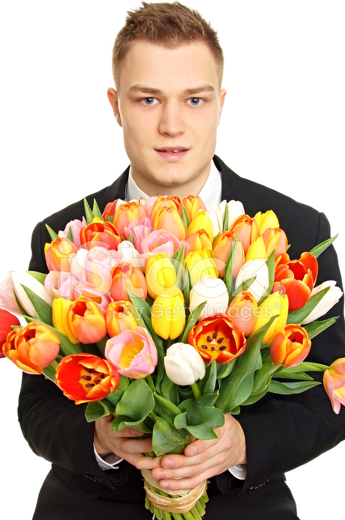 заказ мужчина и тюльпаны фото филе