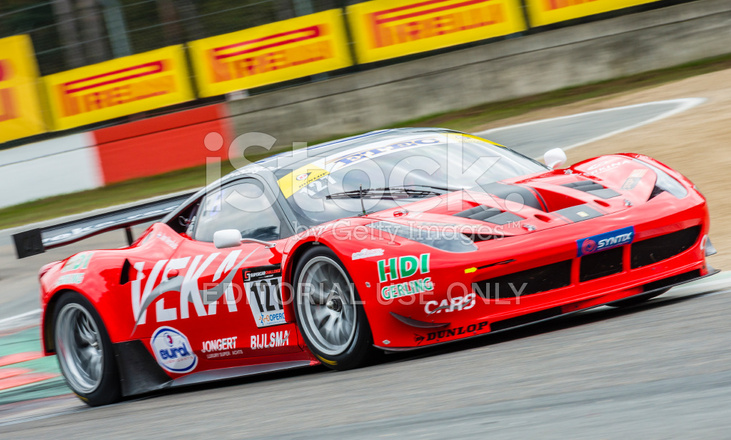 Ferrari 458 gt2 race car at the racing track stock photos - Photo voiture de course ferrari ...