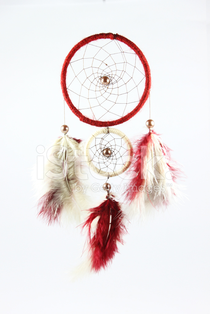 Red and White Dream Catcher Stock Photos
