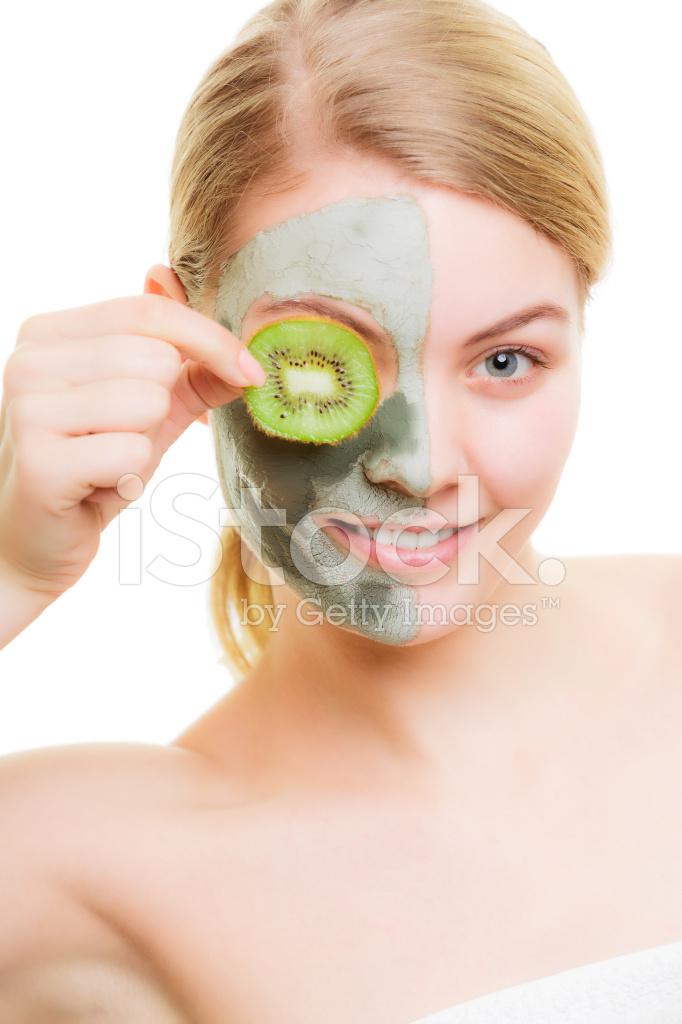 maschera viso kiwi