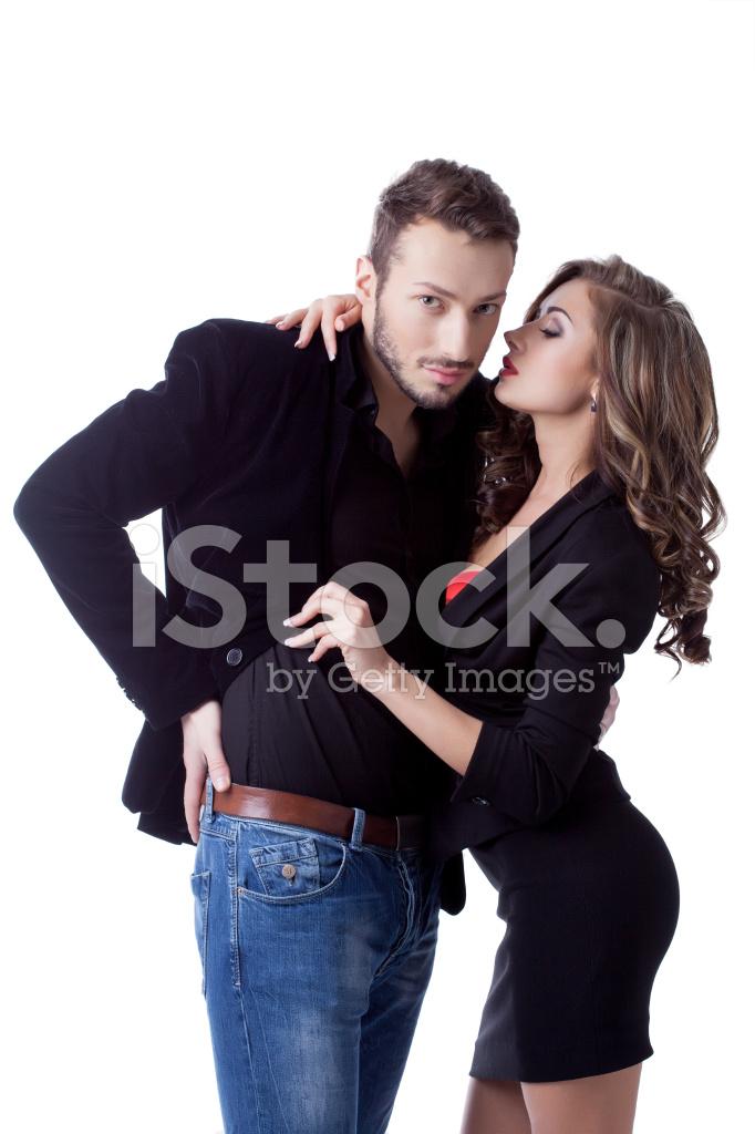 Belos Jovens Modelos Posando Com Roupas De Negócios Fotos Do Acervo